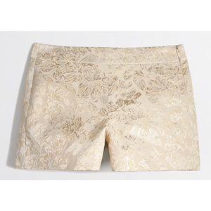 J. Crew Factory Metallic Brocade Shorts